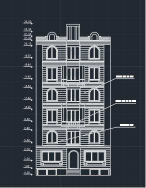 دتایل نما ساختمان سنگی