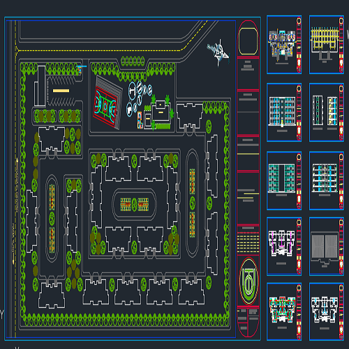 نقشه اتوکد شهرک مسکونی