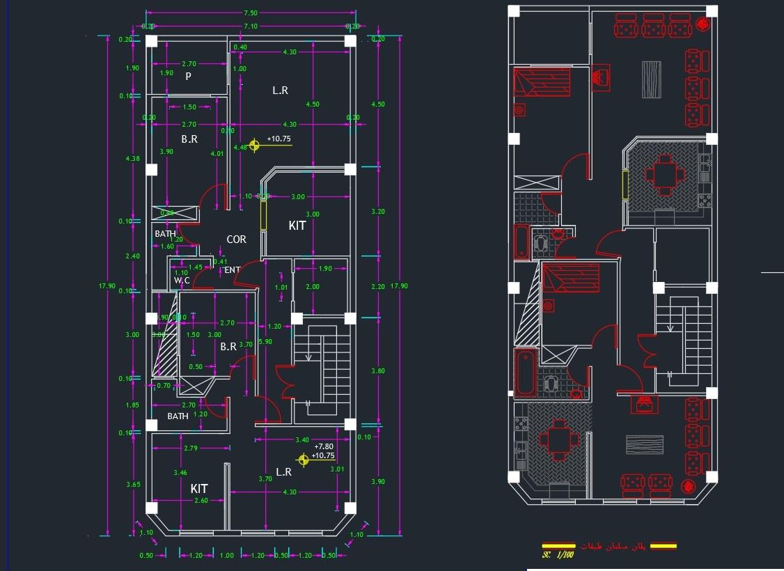 پروژه متره و برآورد ساختمان مسکونی اسکلت فلزی