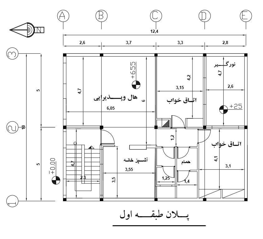 پروژه متره و برآورد ساختمان مسکونی سه طبقه