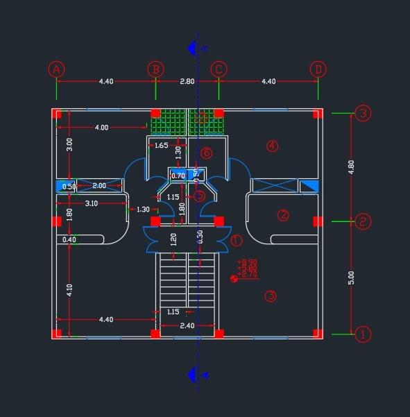 پروژه متره و برآورد ساختمان مسکونی پنج طبقه