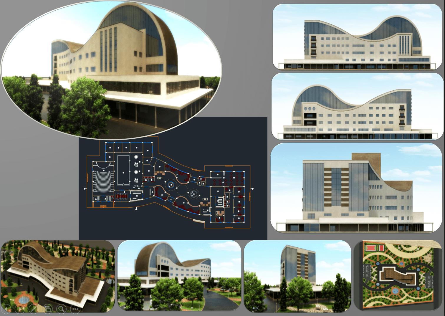 پروژه هتل طرح 4